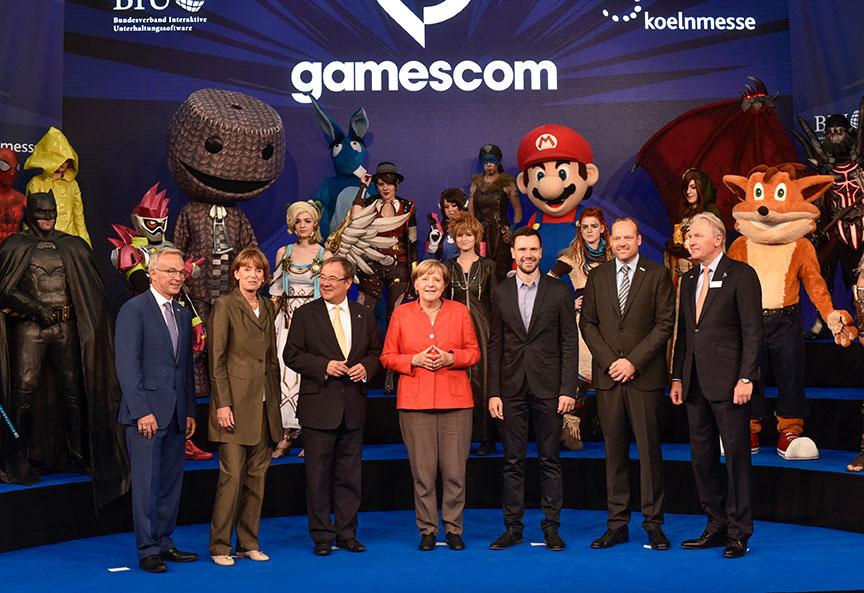 Gamescom-Bundeskanzlerin