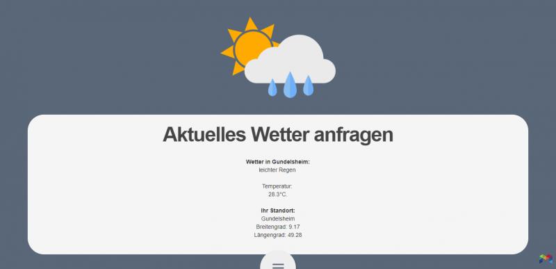 Projektarbeit: Abfrage des aktuellen Wetters