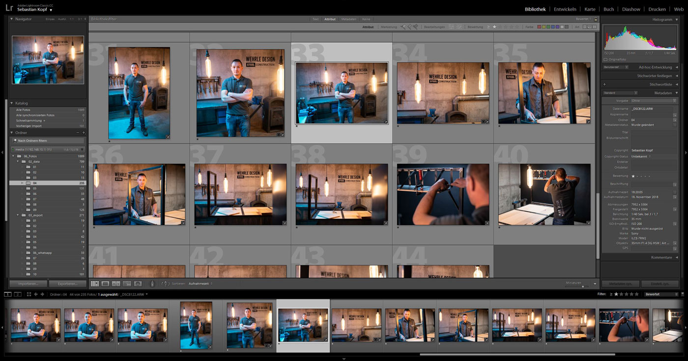 Digital Content-Produktion mit Adobe Lightroom