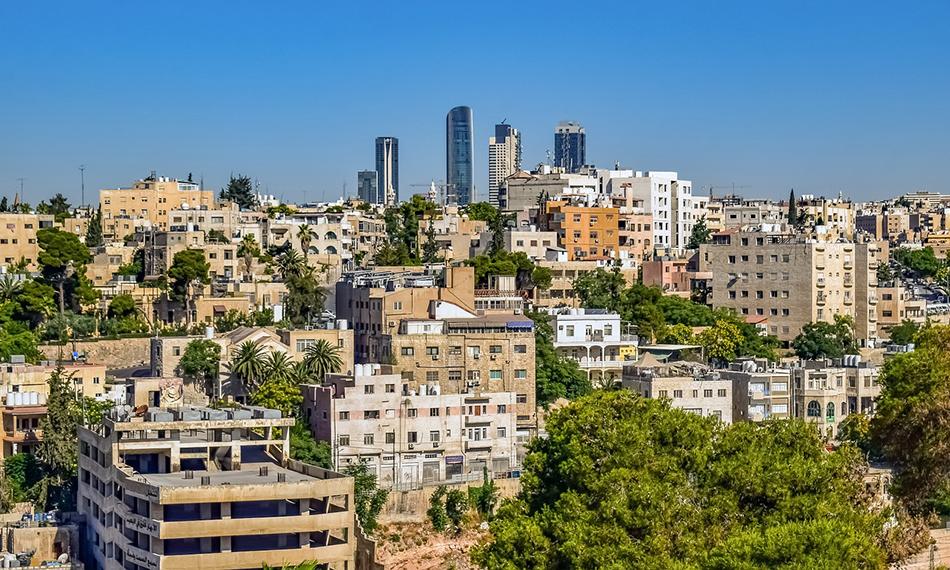Hauptstadt Amman in Jordanien